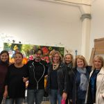 VIP Members of Pelham Art Center at private tour of Marc Dennis studio in DUMBO Brooklyn, NY