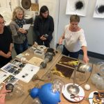 VIP Members of Pelham Art Center at private tour of Beth Dary studio in DUMBO Brooklyn, NY