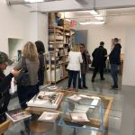 VIP Members of Pelham Art Center at private tour of Laura Karetzky studio in DUMBO Brooklyn, NY